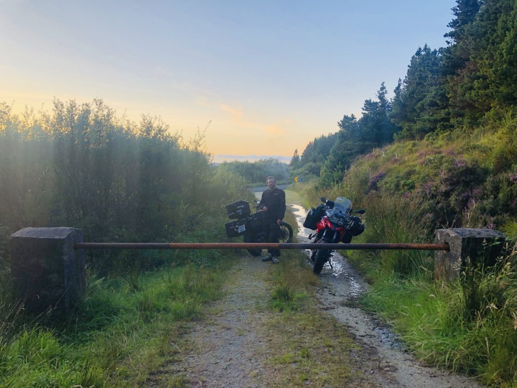 bmw motorcycles on a gravel road