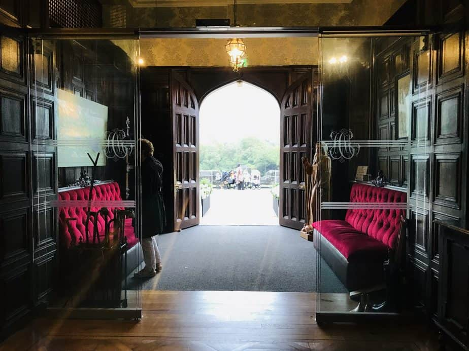 Inside Kylemore Abbey - the foyer